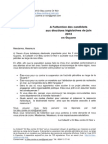 OR bleu-Lettre à l'attention des candidats aux élections législatives de juin 2012