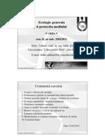 Ecologie Generala Si Protectia Mediului Curs SV2011 UAB