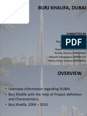 Burj Khalifa, Dubai: Submitted By