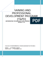 Training and Professional Development Program