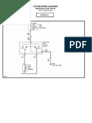 Toyota Corolla 1991 Wiring Diagram | Cars Of Japan | Car | Ae92 Power Window Wiring Diagram |  | Scribd