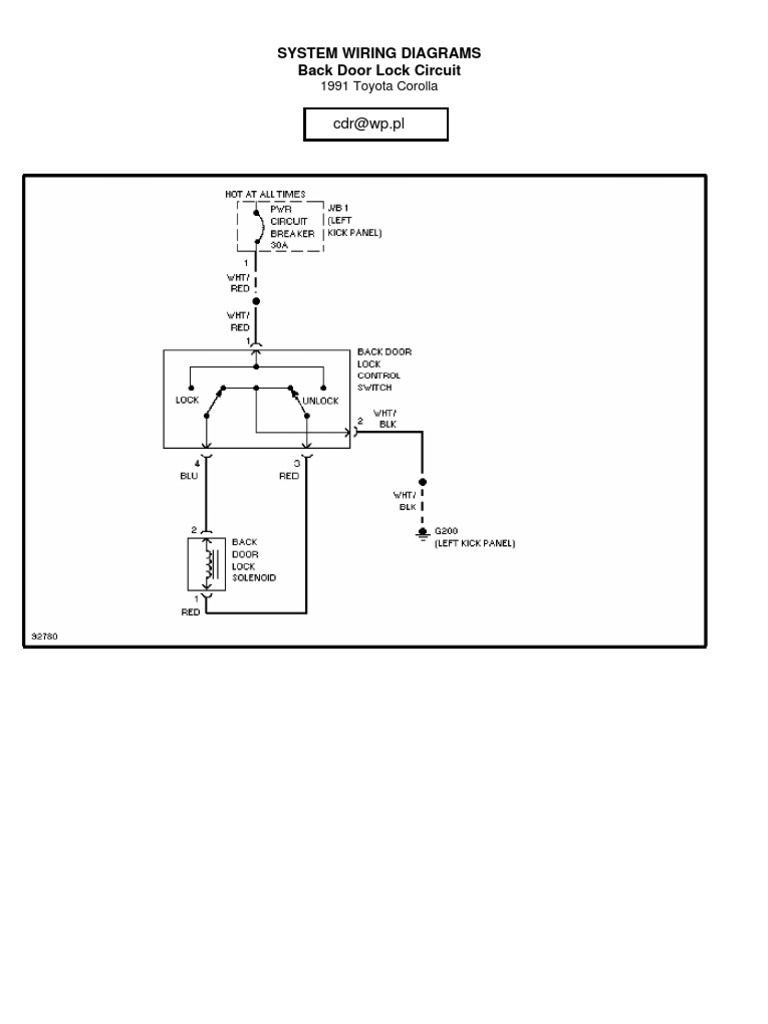 Toyota Corolla 1991 Wiring Diagram | Cars Of Japan | CarScribd