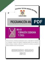 PROGRAMACIÓN ANUAL DE FORMACIÓN CIUDADANA Y CÍVICA