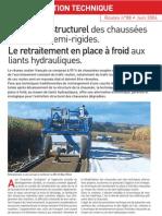 Entretien Structural Des Chaussees Souples Au Liant Hydraulique