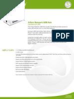 Fiche Technique Hub USB v2.0 4 Ports Vers Reseau Partage LAN 186