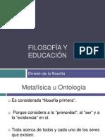 Division de La Filosofia