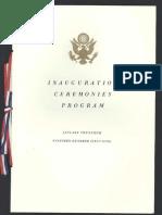 Inauguration Program, 1969