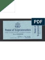 Inaguration Ticket, 1969