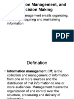 Information Management, And Decision Making