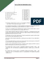 exercicios de equações do 1 grau com resposta