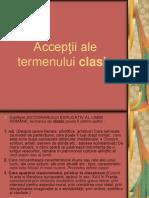 Acceptii Ale Termenului Clasic