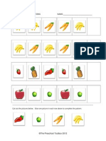 Fruit and Vegetable Patterns