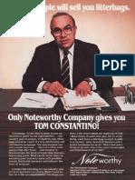 Tom Constantino Ad