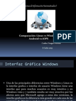 Comparación Linux vs Windows y Android vs iOS Carlos Vargas Pereira A96575