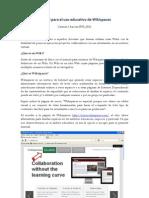 Manual Para Usuarios de Wikispaces