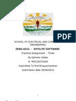 Optilite Practical Lab Report 3