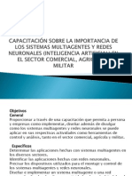 CAPACITACIÓN SOBRE LA IMPORTANCIA DE LOS SISTEMAS MULTIAGENTES