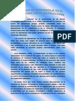LAS TEORIAS DE APRENDIZAJE EN EL DISEÑO TECNOLÓGICO INSTRUCCIONAL