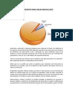 Presupuesto Salud Bolivia 2012