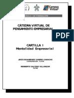 1. MENTALIDAD EMPRESARIAL ( Cartilla )