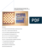 Free Chess and Checker Board With Player Pieces Plan