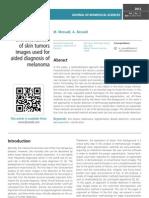 Segmentation and characterization of skin tumors images used for aided diagnosis of melanoma