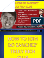 How to Join Bo Sanchez' Truly Rich Club