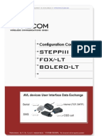 SteppIII Fox Bolero Lt PFAL Configuration Command Set 2.6.3 01