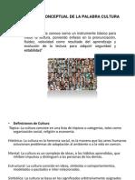 AMPLIACIÓN CONCEPTUAL DE LA PALABRA CULTURA