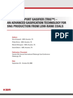 KBR's Transport Gasifier (TRIG) - An Advanced Gasification Technology for SNG Production from Low-Rank Coals