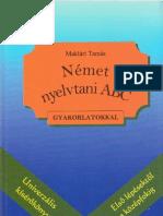 Német nyelvtani ABC_Maklári