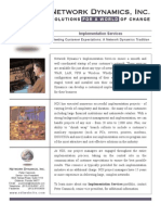 Implementation Data Sheet Peter Cammick