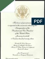 Inaugural Invitation, 1993