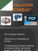instalación de bombas
