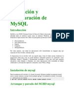 Instalación y configuración de MySQL