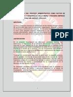 La Aplicacion Del Proceso Administrativo Como Factor de Supervivencia y Desarrollo de La Micro y Pequena Empresa en El Municipio de San Andres Cholula