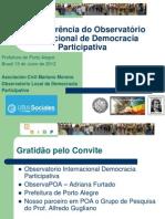 XII Conferencia Observatorio Internacional de Democracia Participativa - Ponencia Ricardo Romero