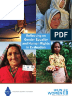Reflecting on Gender Equality Human Rights in Evaluation