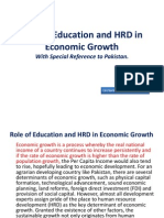 Role of Education and HRD in Economic Growth