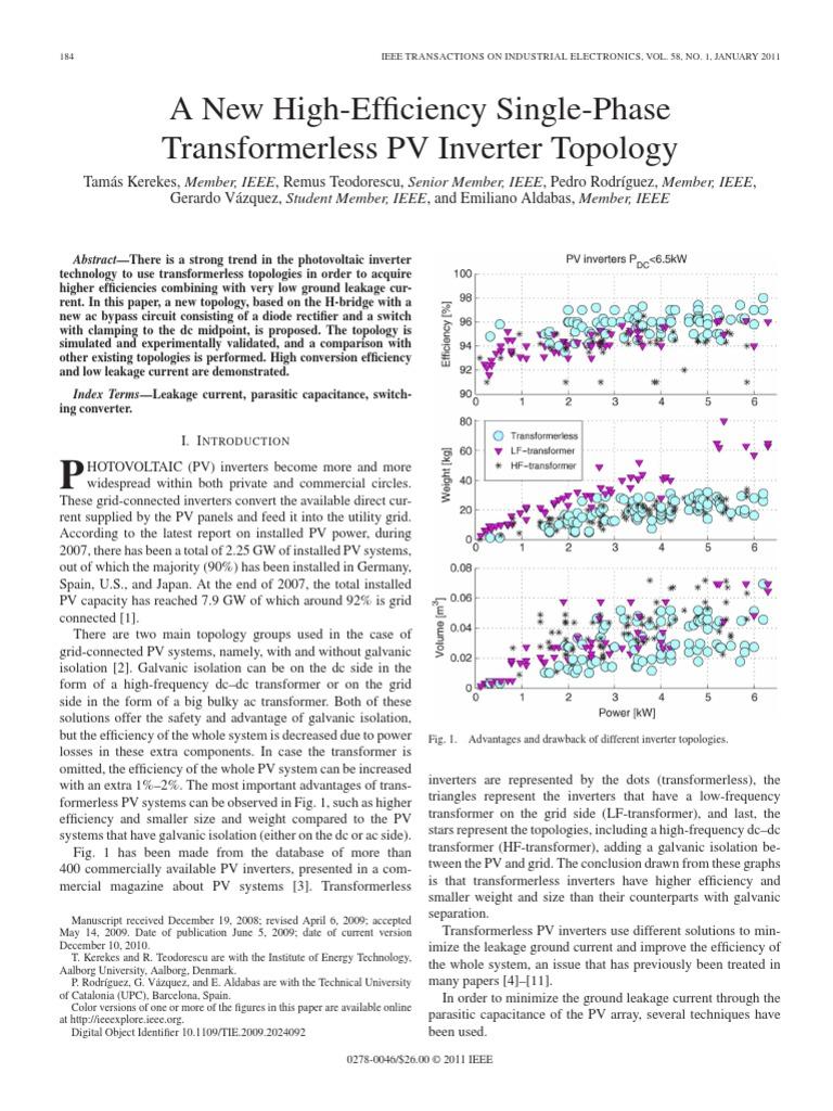 Pedro Power Inverter Photovoltaics Is Unipolar Pwm Possible With A Half Bridge Electronics