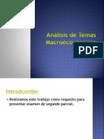 Análisis de Temas Macroeconómicos