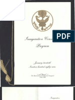 Inaugural Ceremonies Program, 1989