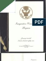 Inaugural Ceremonies Program, 1989