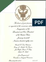 Inauguation Invitation, 1989