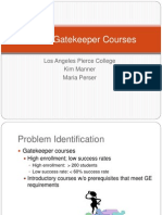 RA for Gatekeeper Courses