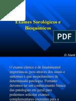 Aula de Exames Sorologicos e Bioquimicos
