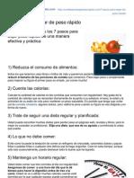 Comidaparabajarpesorapido.com-7 Pasos Para Bajar de Peso Rpido