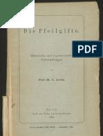 Louis Lewin - Die Pfeilgifte [1894]