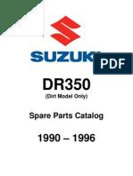 Spare Parts Catalog Dr350 1990-1996