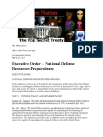 Executive Order of the White House-National Defence Preparedness